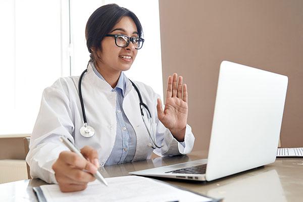 Female POC doctor telehealth